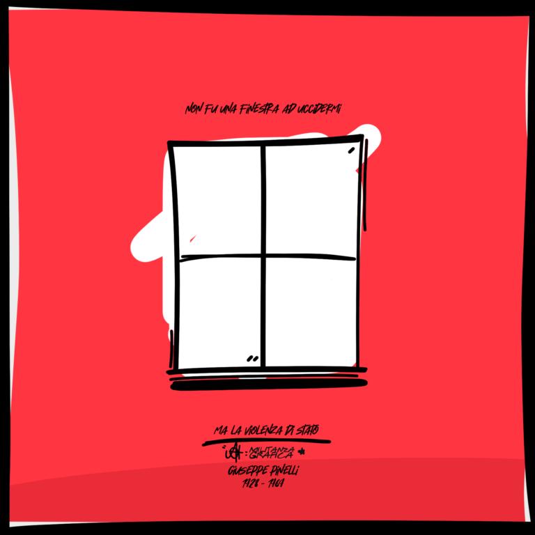 Non fu una finestra ad uccidermi – Giuseppe Pinelli