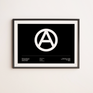 Bandiera Anarchia Poster